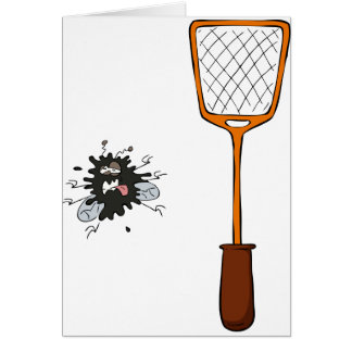 Fly Swat Greeting Cards