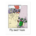 Fly Swat Team Funny Police Gifts & Collectibles Postcard