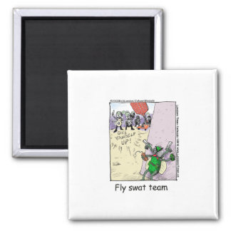 Fly Swatt Team Funny Mugs Cards Tees & More Square Magnet
