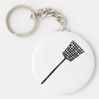 Fly Swatter Basic Round Button Key Ring