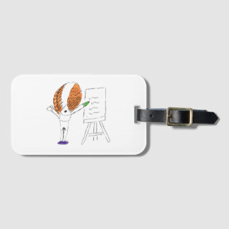 Fly Teacher Luggage Tag with Business Card Slot