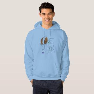 Fly Teacher Men's Basic Hooded Sweatshirt