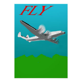 Fly the Lockheed Constellation Poster