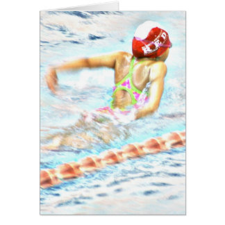 """""""FLY THROUGH LIFE"""" Note Card for Swimmers"""