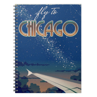 Fly to Chicago Spiral Notebook