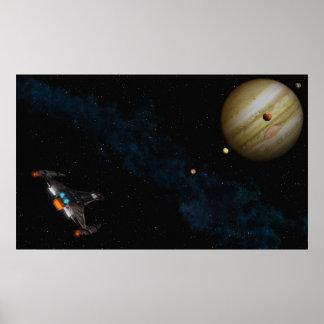 Fly to Jupiter Poster