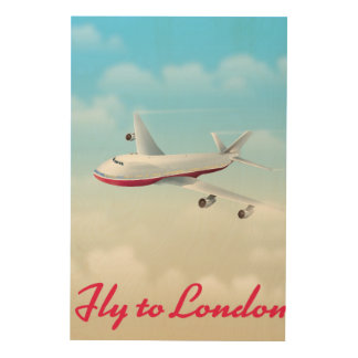 Fly To London Plane poster