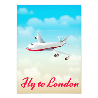 Fly To London Plane poster Art Photo