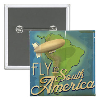 Fly To South America Pin