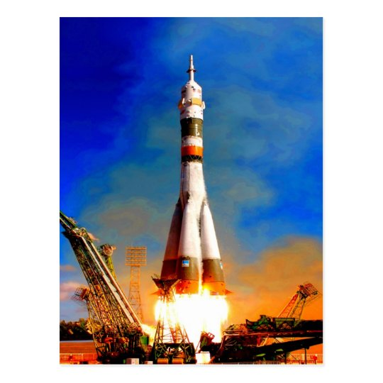 Fly to success rocket take off soyuz space