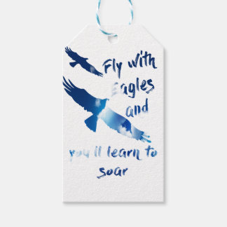 Fly with eagles gift tags