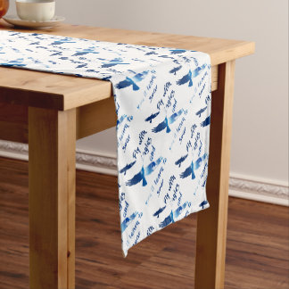 Fly with eagles short table runner