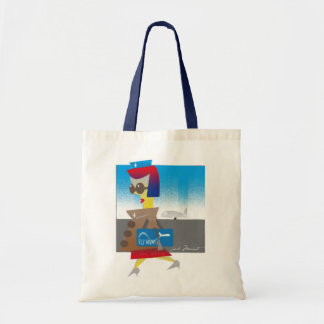 Fly with me budget tote bag