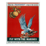 Fly with the Marines Poster