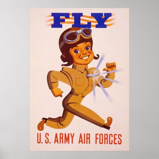 Fly ~  World War 2. Poster
