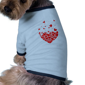 Flyaway Love Hearts Ringer Dog Shirt