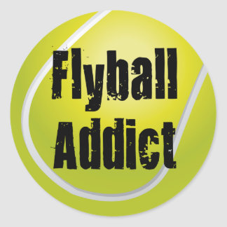 Flyball Addict Classic Round Sticker