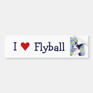 Flyball Border Collie Bumper Sticker