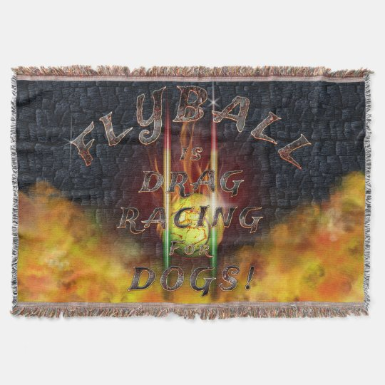 Flyball Flamz: Drag Racing for Dogs! Throw Blanket