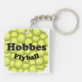 Flyball Hobbes, 100,000 Points Double-Sided Square Acrylic Key Ring