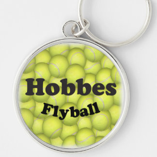 Flyball Hobbes, 100,000 Points Silver-Colored Round Key Ring