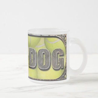 Flyball Iron Dog - 10 years of competition! Frosted Glass Coffee Mug