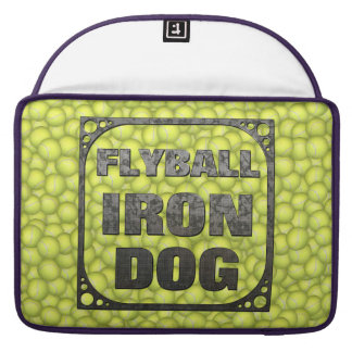 Flyball Iron Dog - 10 years of competition! Sleeve For MacBooks