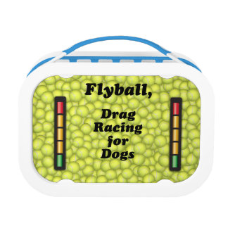 Flyball is Drag Racing for Dogs! Lunch Box
