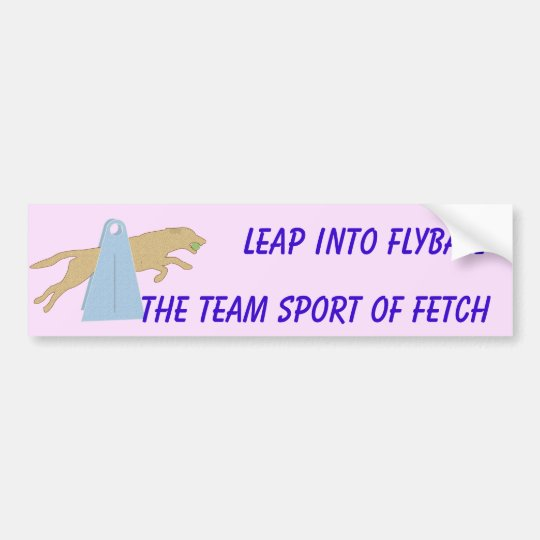Flyball Leap Bumper Sticker