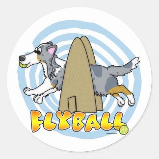 Flyball Sheltie Round Sticker