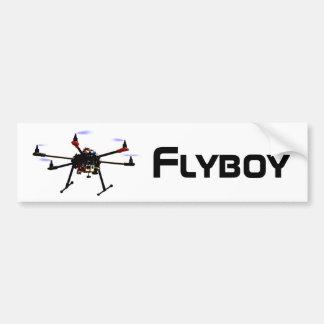 Flyboy hexacopter drone bumper sticker