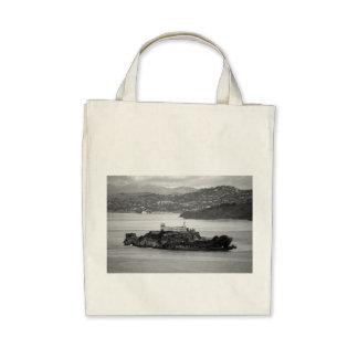 Flyby Alcatraz Island Canvas Bags