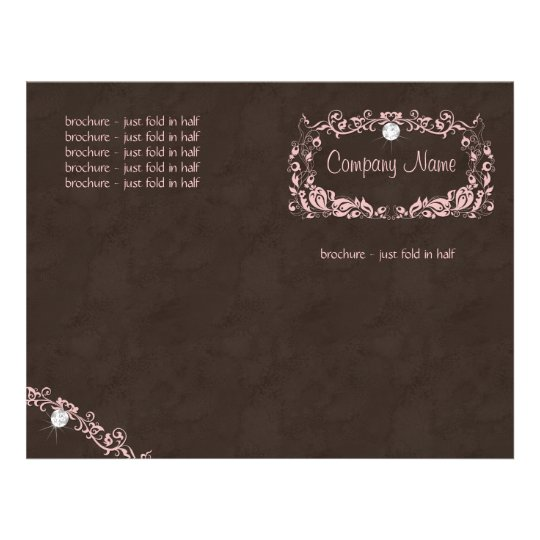 Flyer Diamond Jewellery Pink Brown Suede Floral