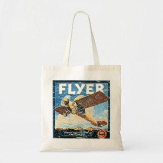 Flyer- distressed tote bag