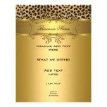 Flyer Elegant Classy Gold Black Leopard animal
