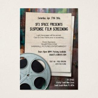 Flyer Hype Retro Object Film Screening Festival Business Card