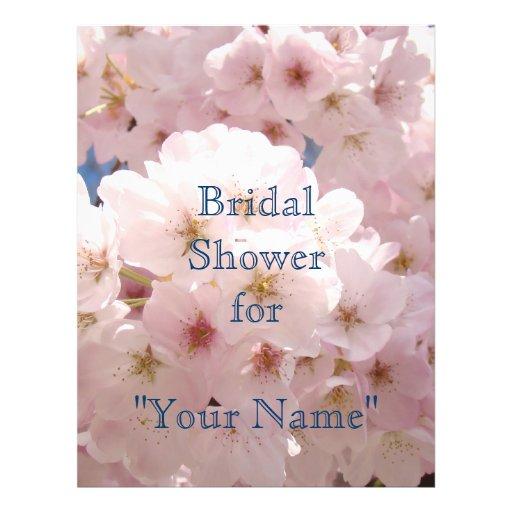 Flyer paper Pink Blossoms Bridal Shower for Name