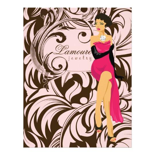 Flyer Salon Diamond Jewellery Woman Pink Brown