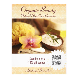 Flyer Template Organic Beauty