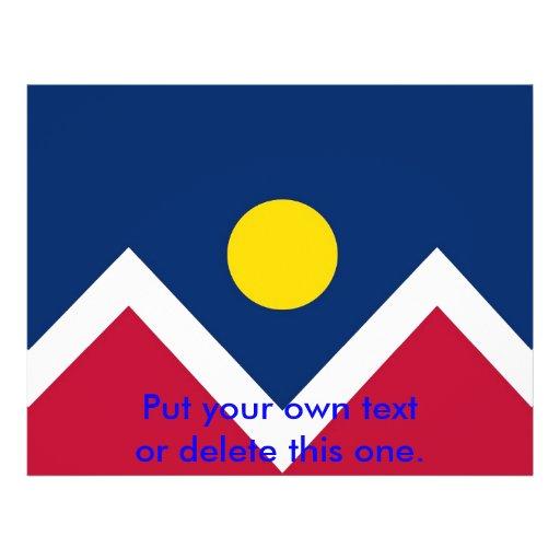 Flyer with Flag of Denver, Colorado, U.S.A.