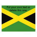 Flyer with Flag of Jamaica