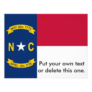 Flyer with Flag of North Carolina, U.S.A.