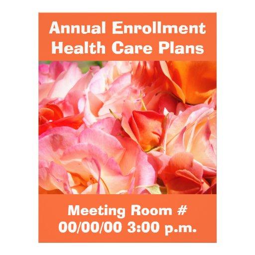 Flyers Annual Enrollment Health Care Plan custom