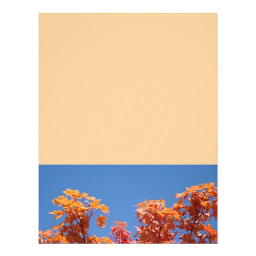 Flyers Designer Sheets Colorful Autumn Tree Leaves