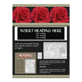 Flyers leaflets templates - customizable red roses