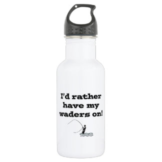 Flyfisherman / I'd rather have my waders on! 532 Ml Water Bottle