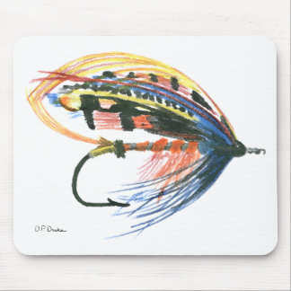 FlyFishing Lure Art Salmon Fly Lure Mousepads