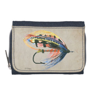 FlyFishing Lure Art Salmon Fly Lure Wallets
