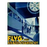 Flyg A-B Aero Transport Vintage Travel Ad