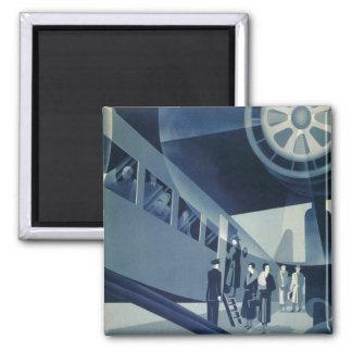 Flyg Med A-B Aerotransport Square Magnet